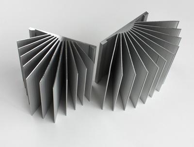 光伏散热器扇形铝合金散热器光伏发电专用