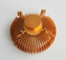 LED散熱器金色