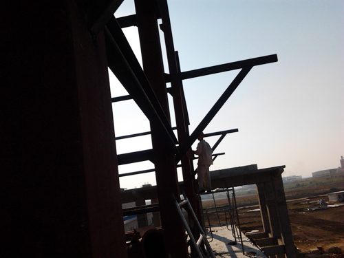 炉子钢架定位