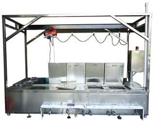 电动葫芦输送超声波清洗设备
