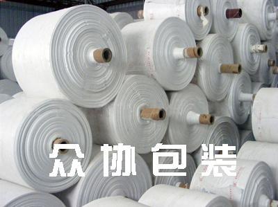 白色编织布筒料