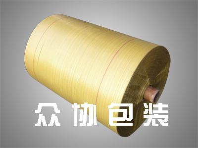 黄色回料编织布筒料