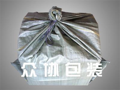 灰色回料穿绳编织袋