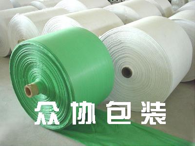 白绿编织布筒料