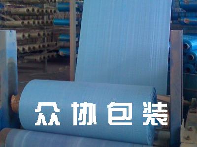 蓝色编织布筒料