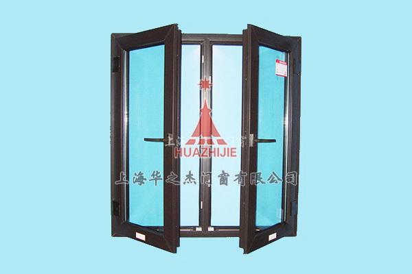 GP塑钢覆膜/拱挤纹黑色开窗