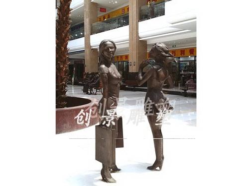 万家汇商城雕塑1