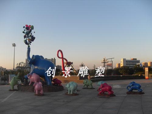 盐城新世界群象雕塑