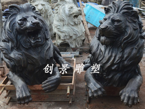 铸铜狮子-