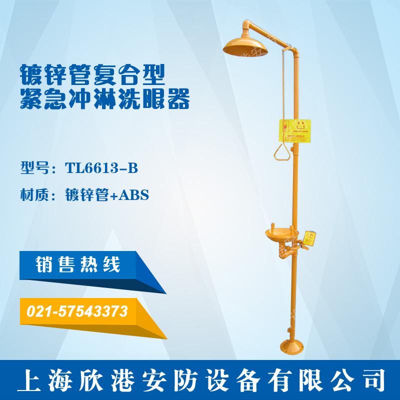 TL6613-B镀锌管复合型紧急冲淋洗眼器(镀锌管+ABS)