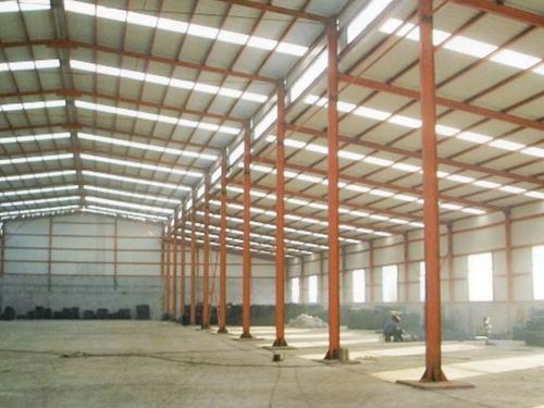 轻钢结构厂房内部结构
