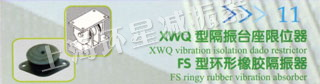 XWQ型隔振台座限位器 FS型環形橡膠隔振器