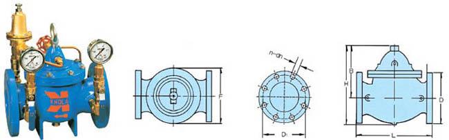概述: 200r型减压阀为隔膜型水力操作型,安装于给排水系统,控制主阀图片