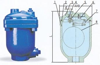 arcx-复杠杆式自动排气阀图片
