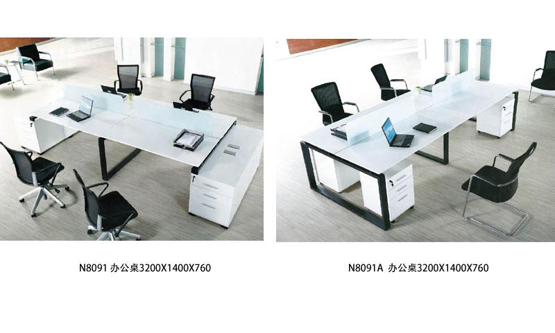 N8091 办公桌 3200X1400X760