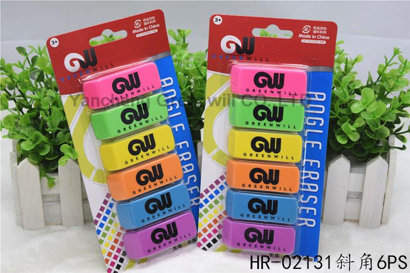 6CT Beveled Eraser  HR-02131