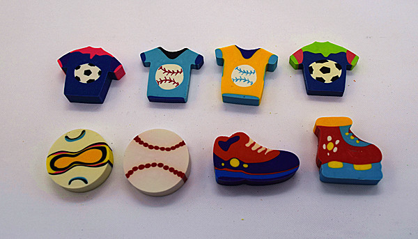 Sports Series Erasers