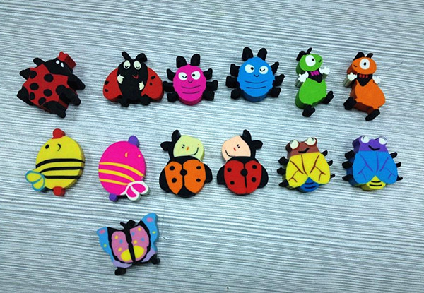Insect Series Erasers