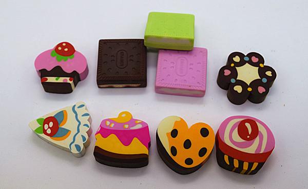 Food Series erasers