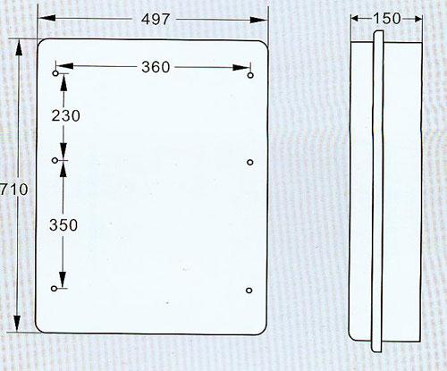 2,最大限度可适用:一个三相负荷开关,三个互感器,一块三相表,一个