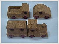 软木玩具车