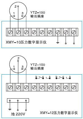 与二次仪表xmy-10压力数字显示仪及xmy-12压力数字