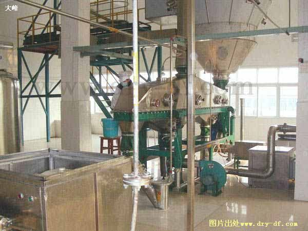 Three levels of low-temperature high-pressure spray granulation drying Series