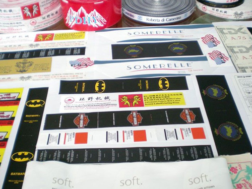 HY300布标丝网机印刷样品