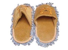 黃底小熊靜電防滑拖鞋