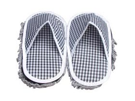 詬誶格子靜電防滑拖鞋