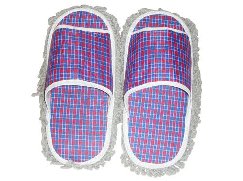 紅藍格子靜電防滑拖鞋