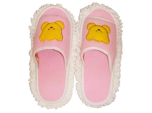 粉底小熊靜電防滑拖鞋