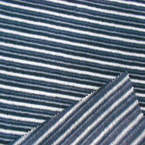 75D144F条纹印花摇粒绒