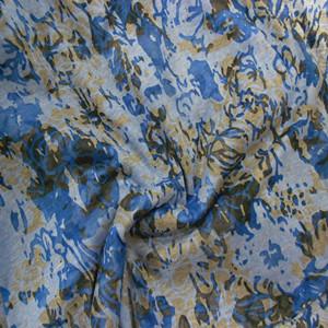 棉涤印花针织布