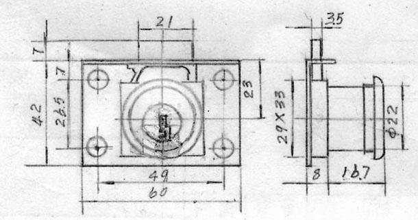 抽屉锁内部结构图