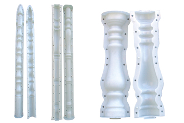 花瓶柱塑模