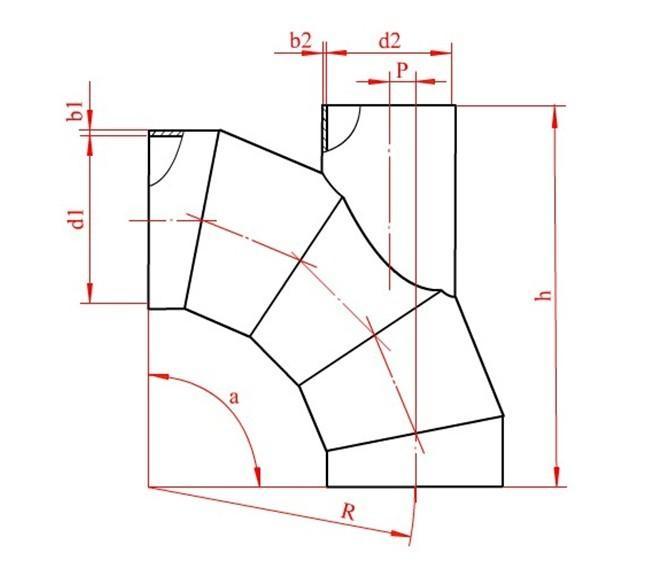 展开图采用平行线法放样下料