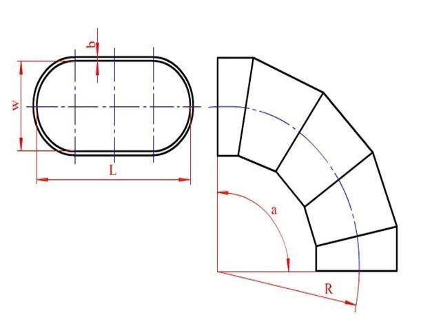 风管放样,长圆管任意角度多节弯头放样下料说明