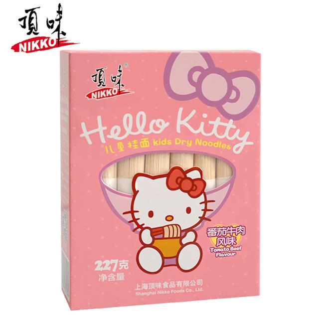 Hello Kitty 亚博在线娱乐官网入口儿童挂面 番茄牛肉细面条 全国1包包邮