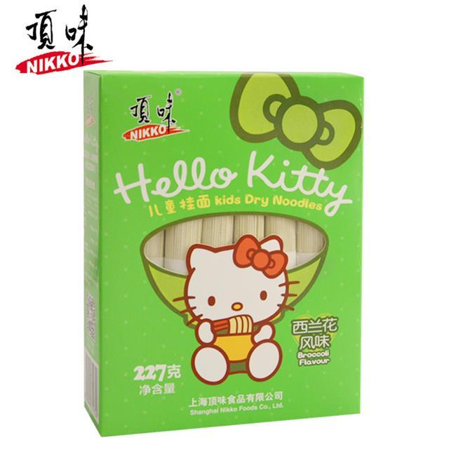 Hello Kitty亚博在线娱乐官网入口儿童挂面 西兰花 全国范围1包包邮