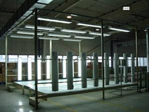 Automobile assembly line steel structure