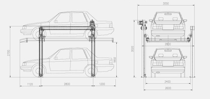 钢结构承载型停车设备