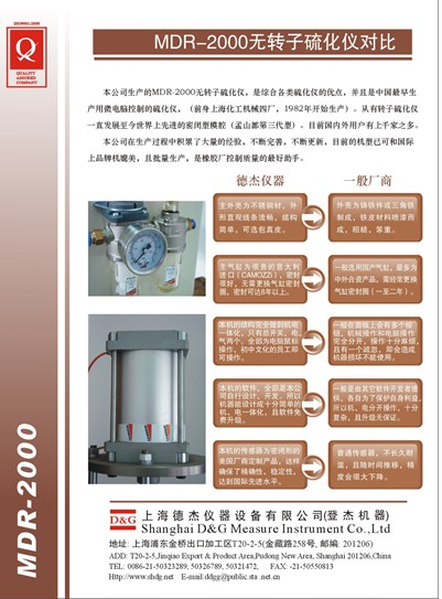 无转子硫化仪对比