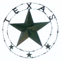 "29"" Texas Star w/Barb wire"