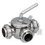 不锈钢卫生级三通旋塞阀(外螺,内螺或卡式端)