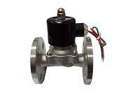 不锈钢水液法兰电磁阀