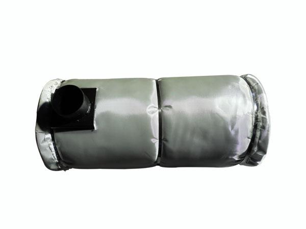 包隔热布的消声器