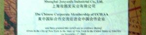 中美国际合作交流促进会证书