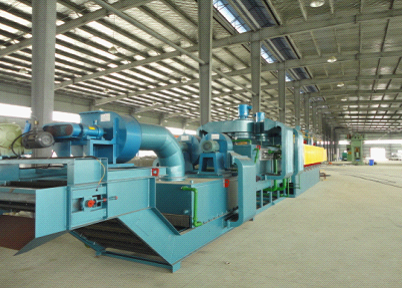 Mesh belt type protective atmosphere normalizing furnace
