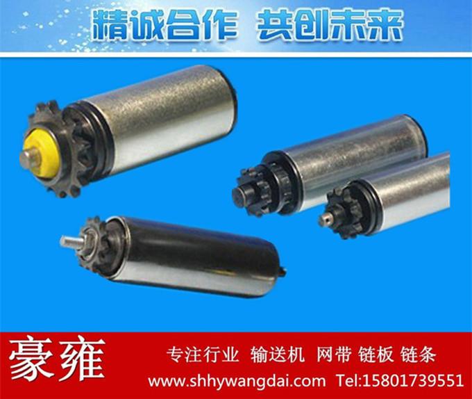 不锈钢单排齿动力滚筒